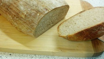 chlebík z čoskoro polročného kvásku