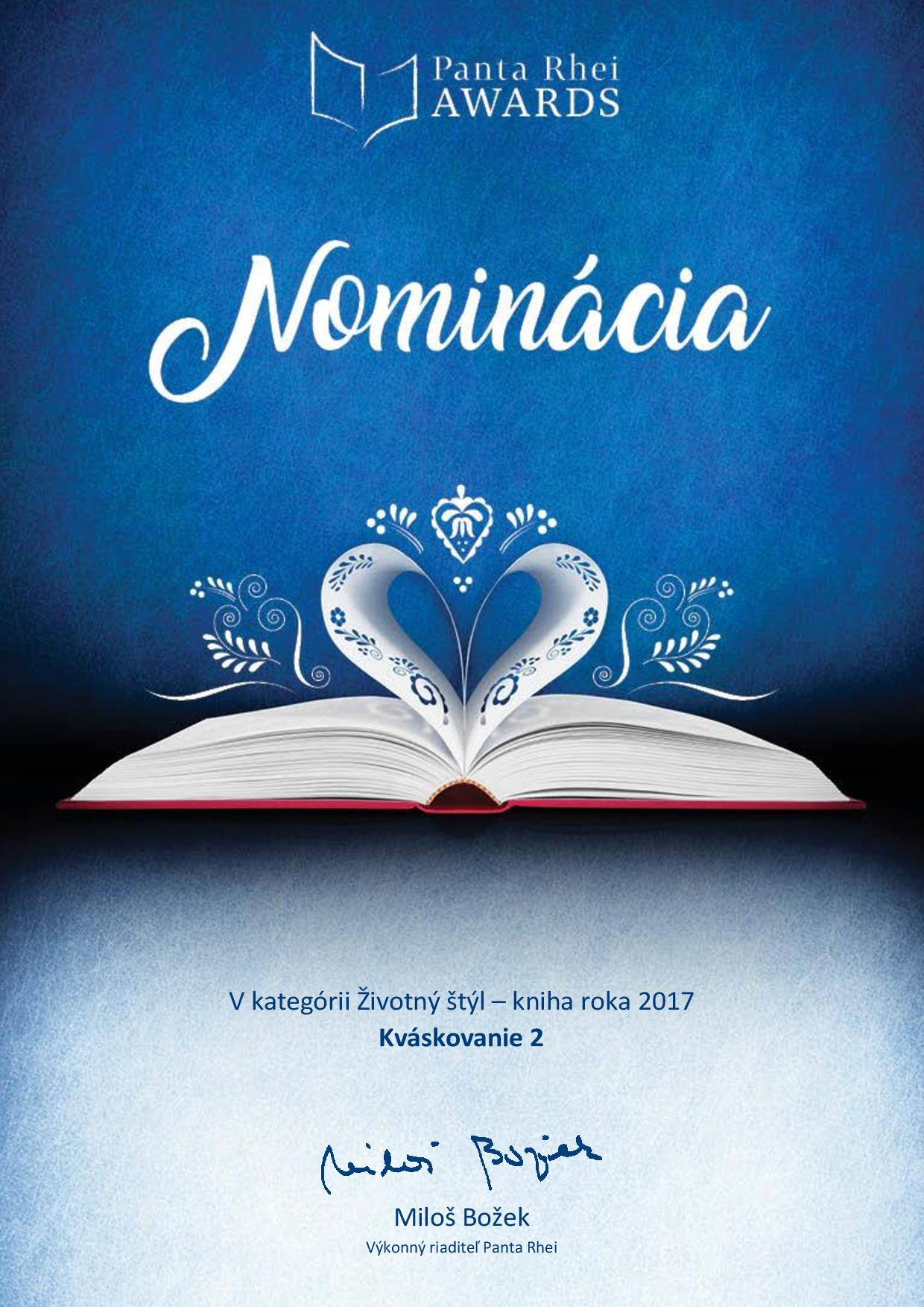 Foto: Nominácia Kváskovanie Kniha roka 2017
