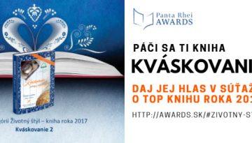 ETAPA č.2.: Hlasuj za Kváskovanie ako Kniha roka 2017