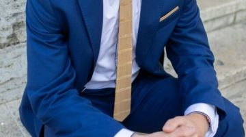 5 Drevena kravata a dreveny motylik
