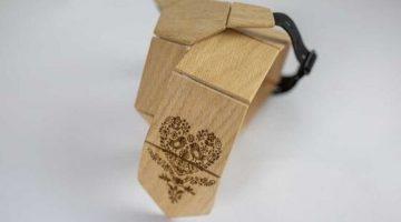 6 Drevena kravata a dreveny motylik