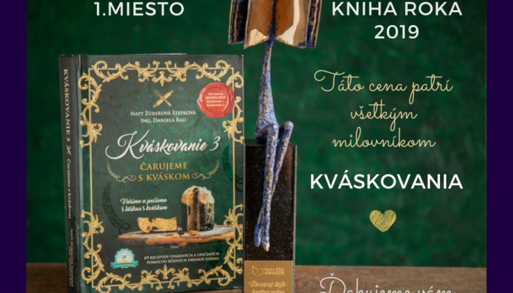 Kváskovanie vyhralo ocenenie Kniha roka 2019